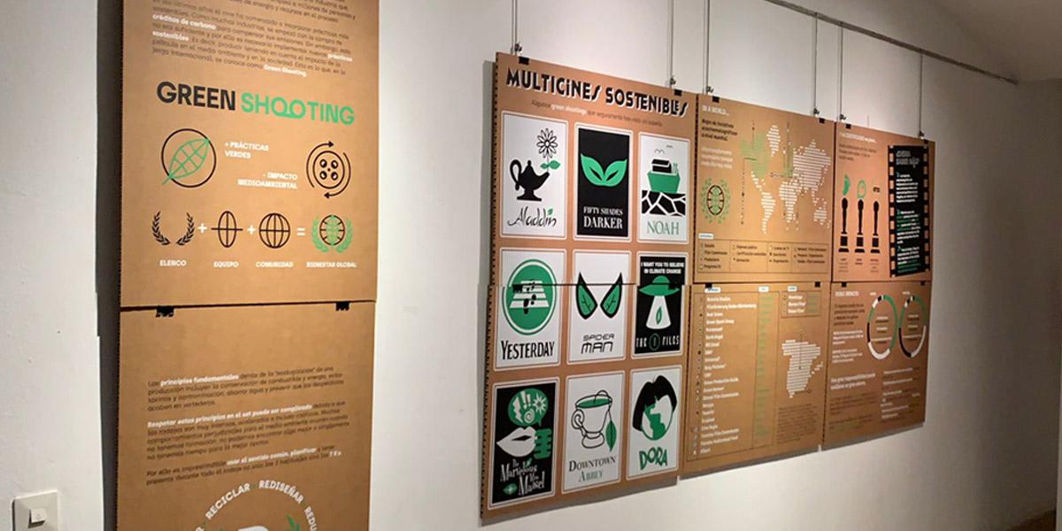 Avilés Acción inaugura la exposición «Green shootings, hacia un cine sostenible»